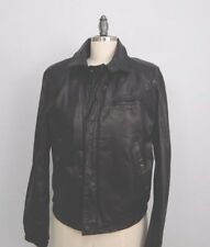 J. Park Women's Black Genuine Leather Bike Jacket w Fur Lining Sz M