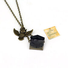 Harry HP Hedwig Post Owl With Letter Of Admission Pendant Vintga Necklace