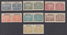 Argentina, Santa Fé, 1915 Comision de Fomento Revcenues, 7 pairs, sound & VF
