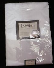 "NEW Benson Mills spillproof Outdoor table cloth Rosedale white 52"" x 80"" Oblong"