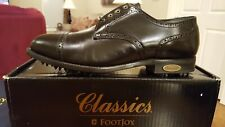 *VINTAGE* FOOTJOY CLASSICS MENS GOLF SHOES 51052 NEW BLACK 11D Made in USA MINT!