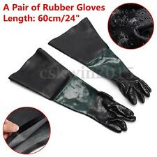 24''x10'' Latex Sandblasting Gloves for Sandblaster Sand Blast Blaster Cabinet