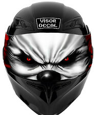 V14 Evil Clown VISOR TINT DECAL Helmet UNIVERSAL Fits All Sport Bike Helmet