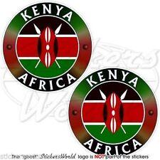 "KENYA Kenyan AFRICA African Vinyl Bumper Stickers, Decals 3"" (75mm) x2"
