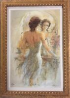 """Gary Benfield Seriolithograph """"Reflections"""" Hand Signed Limited Edition Framed"""