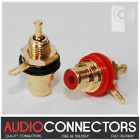 8 x Hi-Fi RCA Phono Sockets WITH SOLDER LUG (PP1) - exclusive to THAT'S AUDIO
