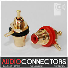 2 x Hi-Fi RCA Phono Sockets WITH SOLDER LUG (PP1) - exclusive to THAT'S AUDIO