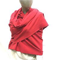 Cashmere Company Sciarpa Donna Rosso Scialle Coprispalle Lana Cashmere Stola 040