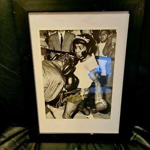 RRDUCED LIONEL ROSE Signed Original and Framed Boxing Memorabilia,World Champion