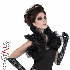 Adult Gothic Ruffled Black Shrug Vampire Halloween Fancy Dress Costume Accessory