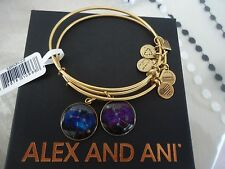 Alex and Ani BIG AND LITTLE DIPPER  Russian Gold Bangles New W/ Tag Card & Box