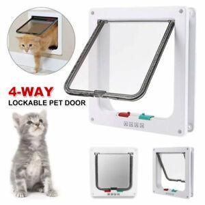 4-Way Safe Lockable Locking Pet Cat Dog Door Brushy Flap Screen L Large Size AU