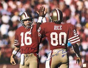 Joe Montana & Jerry Rice 49ers Autographed 16x20 Photo ASI Proof
