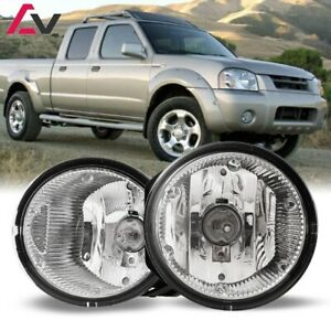 For Nissan Frontier 01-04 Clear Lens Pair Bumper Fog Light Lamp Replacement