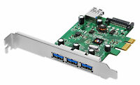 SIIG DP USB 3.0 4-Port PCIe Host Adapter i/e, Over-Current Protect JU-P40212-S1