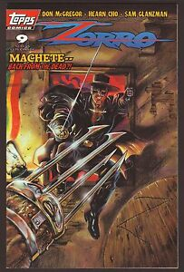 Zorro #9--Screams to the Night Skies--1994 Topps Comic Book