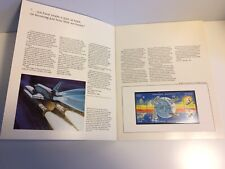 Space Achievement Folder with Stamps 833 hinged and mounted in booklet