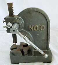 Vtg Arbor Press 0.5 Ton Lever Bench Mountable Bearings Cast Iron Manual Desktop
