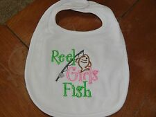 Embroidered Baby Bib - Reel Girls Fish
