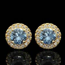 2.00 Ct Round Natural Diamond Solitaire Stud Earrings 14k Yellow Gold