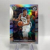 Giannis Antetokounmpo NBA Card 81 2017-18 Optic Silver Prizm Holo Milwaukee