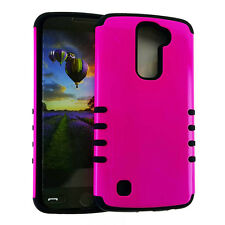 KoolKase Rocker Slim Hybrid Soft Silicone Hard Cover Case for LG K10 - Color
