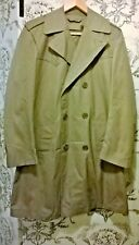 NEW Khaki double breasted trench coat w/ detachable fur lining Size M