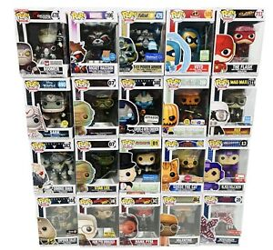 Funko Pop Lot Of 20 Marvel, DC, Fallout Monopoly Vaulted Rare Box Damage Sale