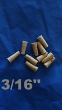 CORK stopper plug round tapered style crafts fishing lab wine all natural *3/16*