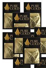 Nouveau job lot 24CT feuille d'or 100% authentique scrap gold sheets 5 packs
