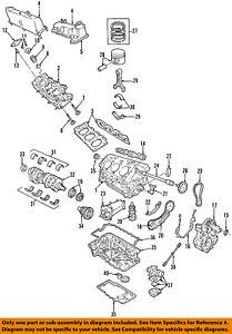FORD OEM-Engine Oil Pan Gasket F77Z6710AA