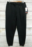 Akademiks Mens Size Medium Black Fleece Sweat Skinny Fit Jogger Pants New
