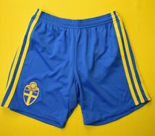 Sweden Football Shorts Size 9-10 y Kids Blue Soccer Adidas AA0451 ig93