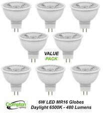 12 x Crompton LED Downlight Globes / Bulbs 6W 12V MR16 Cool White Daylight