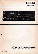 Service Manual-Istruzioni per UHER CR 210 Stereo