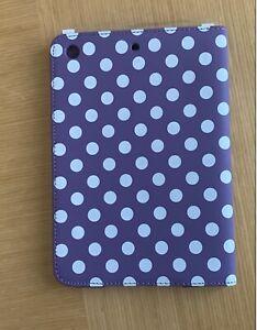 ipad mini 1 2 3 Flip Cover case Purple Spot