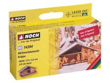 Noch 14394 - H0 - Kit weihnachtsmarkt-krippe with Figures in Wood Look - NEW