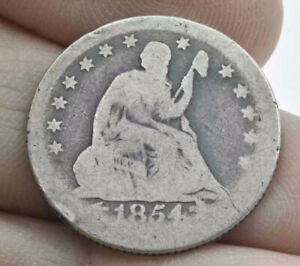 1854-O Seated Liberty 25c ~ Briggs 3 Obverse ~ Very RARE ~ Crumbled Die Variety!