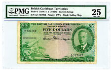 British Caribbean Territories … P-3 … 5 Dollars … 1950 … *VF+*