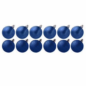 Davies Products 12 Pack 30mm Glitter / Plain Baubles
