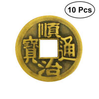 10pcs Chinese Coins Feng Shui I-Ching Divination Coins for Wealth Success