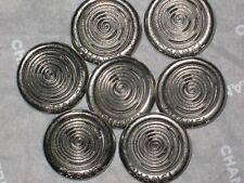 CHANEL  7 SILVER  BUTTONS  22  MM/ 1''    NEW LOT 7  NEW