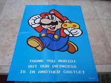 2010 Mario promo poster Super Mario folded Nintendo promo poster