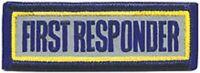 REFLECTIVE FIRST RESPONDER  UNIFORM 3X1  FIRE PATCH
