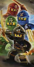 Lego Ninjago 'Quadrant' Warriors Cotton Beach Bath Towel Boys Childrens Holiday