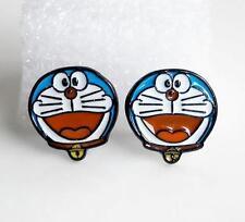 earrings studs cartoon Ear Rings new Doraemon red mouth metal earring ear stud