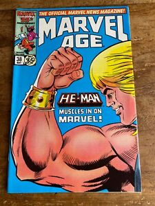 Marvel Age #38 1st app He-Man Masters of the Universe in Marvel 1986 =