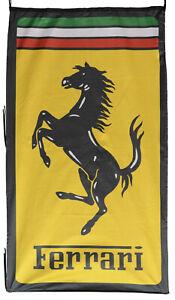 FERRARI-FLAG ITALY PRANCING HORSE VERTICAL BANNER 5 X 3 FT 150 X 90 CM