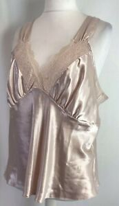BHS Secrets Satin Vest Cami Champagne Nude Size UK20 New Tagged Sexy Chic E929