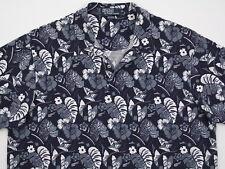 Mens Ralph Lauren S/S Cotton Knit Mesh Floral Print Polo Blue & White XL NU COND